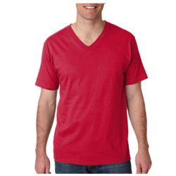 Anvil 982 Adult Fashion Fit V-Neck Cotton Tee Thumbnail