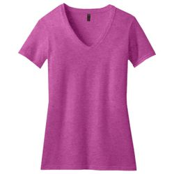 District Made DM1190L Ladies Perfect Blend ™ V Neck Tee Thumbnail
