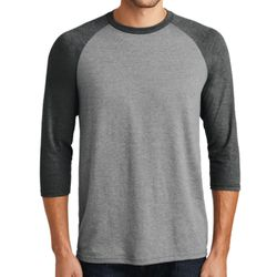 District DM136 Adult Perfect Tri 3/4 Sleeve Raglan Thumbnail
